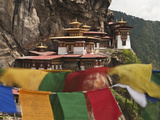 Prayer Flags, Tiger's Nest, Bhutan Photographic Print by Dennis Kirkland