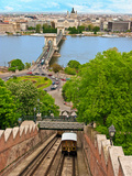 Castle Hill Funicular, Budapest, Hungary Photographic Print by Miva Stock