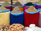 Spices for Sale, Souk in the Medina, Marrakech (Marrakesh), Morocco, North Africa Photographic Print by Nico Tondini