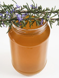 Rosemary (Rosmarinus Officinalis) Honey in Jar Photographic Print by Nico Tondini