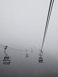 Ngong Ping Cable Car, Hong Kong, China Photographic Print by Julie Eggers