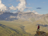 Hiker, Arctic National Park and Preserve, Alaska, USA Photographic Print by Hugh Rose