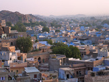 Cityscape of Blue Houses in the Blue City, Jodphur, Rajasthan, India Photographic Print by Keren Su