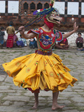 Ura Yakchoe Festival, Bumthang, Bhutan Lámina fotográfica por Dennis Kirkland