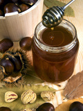 Chestnut (Castanea Sativa) Honey in Jar Photographic Print by Nico Tondini