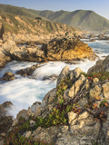 Surf on Rocks, Garrapata State Beach, Big Sur, California Pacific Coast, USA Photographic Print by Tom Norring