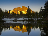 Mount Ritter Reflected in the Clark Lakes, Ansel Adams Wilderness, California, USA Photographic Print by Mark Williford