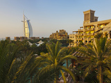 Modern Burj Al Arab Hotel and Traditional Wind House, Dubai, United Arab Emirates Photographic Print by Keren Su