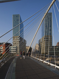 Zubizuri Bridge, Bilbao, Spain Photographic Print by Walter Bibikow