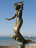 Triton and Nereida Sculpture on the Malecon, Puerto Vallarta, Mexico Photographic Print by Michael DeFreitas