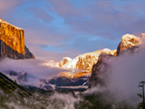 Sunset Colors the Classic Tunnel-View, El Capitan and Half Dome, Yosemite, California, USA Photographic Print by Tom Norring