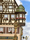 Cross Timbered Houses, Rothenburg Ob Der Tauber, Germany Photographic Print by Miva Stock