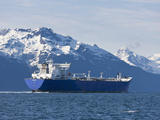 Empty Oil Tanker, Prince William Sound, Alaska, USA Photographic Print by Hugh Rose