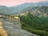 Sunrise over the Mutianyu Section of the Great Wall, Huairou County, China Fotoprint van Miva Stock