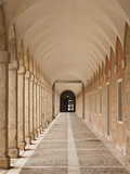 Arched Walkway, the Royal Palace, Aranjuez, Spain Photographic Print by Walter Bibikow