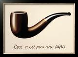 La Trahison des Images Print by Rene Magritte