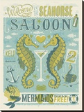 Seahorse Saloon Stretched Canvas Print by  Anderson Design Group