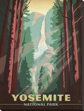 Yosemite National Park Stretched Canvas Print by  Anderson Design Group