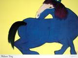 Blue Horse Print van Walasse Ting