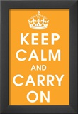 Keep Calm (orange) Framed Giclee Print