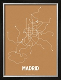 Madrid (Orange & Pearl White) Prints by  Line Posters