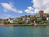 Homes Along Sydney Harbor, Sydney, New South Wales, Australia Photographic Print by Miva Stock