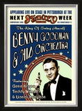 Benny Goodman Orchestra at the Stanley Theatre, Pittsburgh, Pennsylvania, 1936 Posters by Dennis Loren