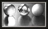Three Spheres II Poster by M. C. Escher