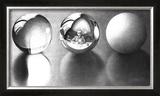 Three Spheres II Poster by M. C. Escher