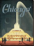 Visit Chicago Stretched Canvas Print by  Anderson Design Group