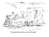 """I am proud of my body—just not in this light."" - New Yorker Cartoon Premium Giclee Print by Barbara Smaller"