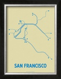 San Francisco (Cement & Blue) Prints by  Line Posters