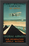 Imperial Airways travel, c.1924 Prints