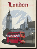 London Stretched Canvas Print by  Anderson Design Group