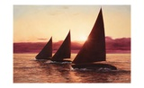 Evening Sails Posters by Diane Romanello