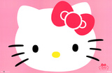 Hello Kitty Face Poster