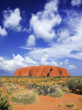 The Holy Mountain of Uluru, Ayers Rock, Uluru-Kata Tjuta National Park, Australia Photographic Print by Miva Stock