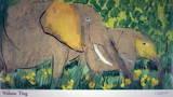 Elefanter Posters av Walasse Ting