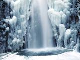 Multnomah Falls in Winter: Columbia Gorge, Oregon, USA Photographic Print by Michel Hersen