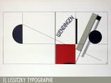 Magazine Cover Design Twists Poster by El Lissitzky