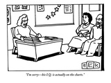 """I'm sorry—his I.Q. is actually on the charts."" - New Yorker Cartoon Premium Giclee Print by Bruce Eric Kaplan"