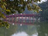 Huc Bridge over Haan Kiem Lake, Vietnam Photographic Print by Keren Su
