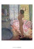 Le Cabinet de Toilette au Canape Rose Print by Pierre Bonnard