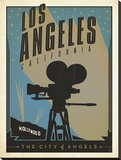 Los Angeles, The City of Angels Stretched Canvas Print by  Anderson Design Group