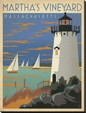 Martha's Vineyard Massachusetts Stretched Canvas Print by  Anderson Design Group