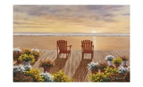 Evening Deck View Poster by Diane Romanello