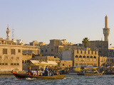 Traditional House Along Khor Dubai (Dubai Creek), Dubai, United Arab Emirates Photographic Print by Keren Su