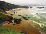 Crescent Beach from Ecola State Park, Oregon, USA Photographic Print by Michel Hersen