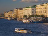 Neva River, Saint Petersburg, Russia Photographic Print by Walter Bibikow
