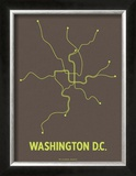 Washington D.C. (Charcoal Brown & Lime) Prints by  Line Posters